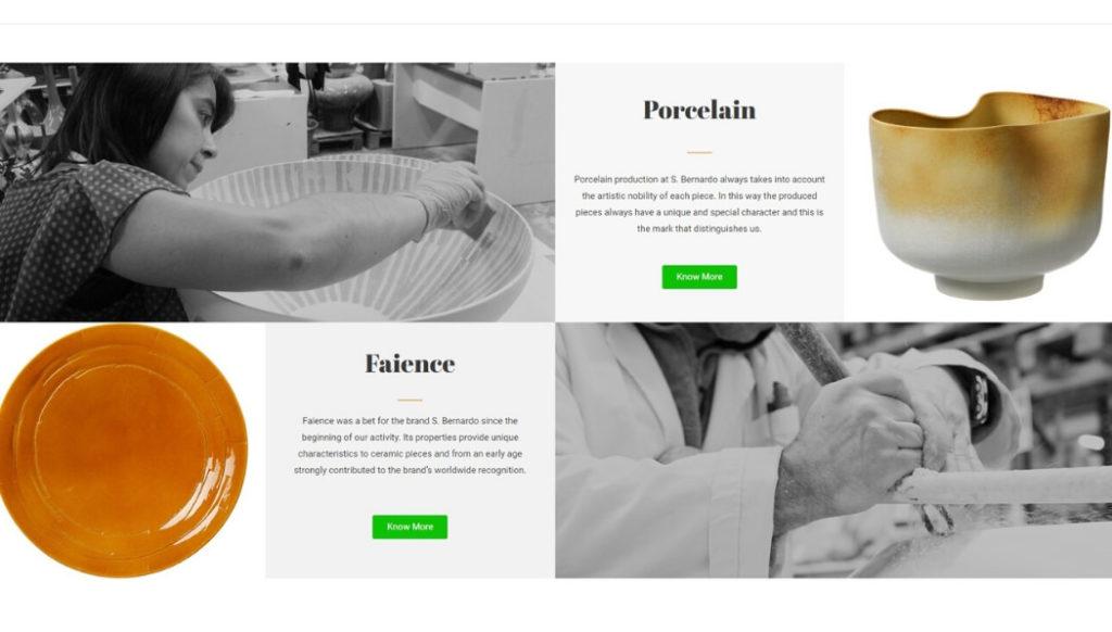 Screenshot of the new S. Bernardo website