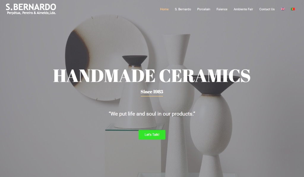 New website for S. Bernardo